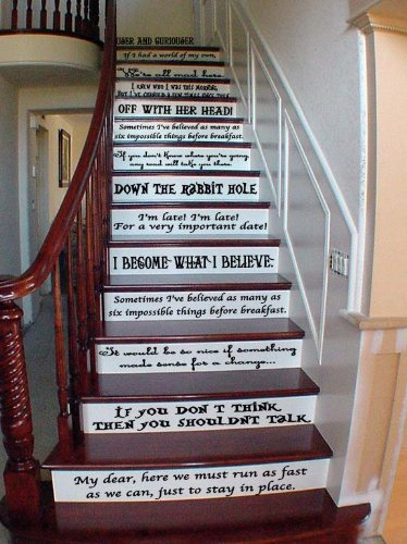 Alice in wonderland staircase quotes