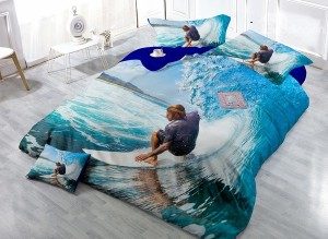 3D Surfing Bedding Set