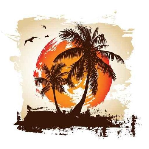 palm tree beach wall murals funkthishouse com funk funky foliage berry wall mural contemporary wallpaper