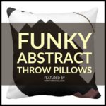 Funky Abstract Throw Pillows