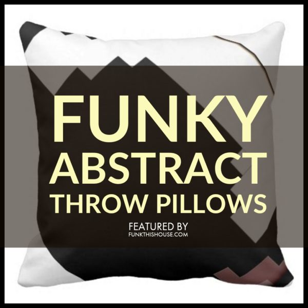 Funky Abstract Pillows With Modern, Fun and Geometric Designs