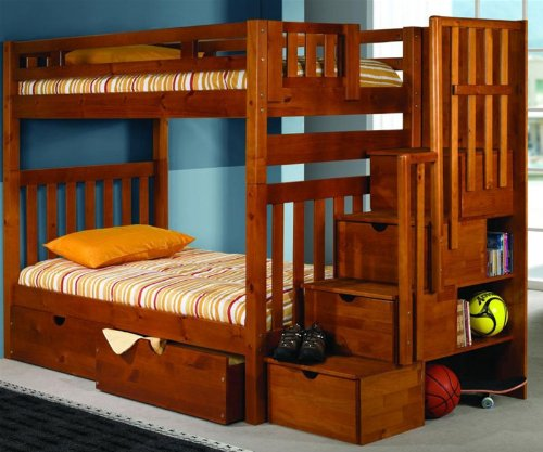 Funky Bunk Bed With Stairs Save Space Funk This House