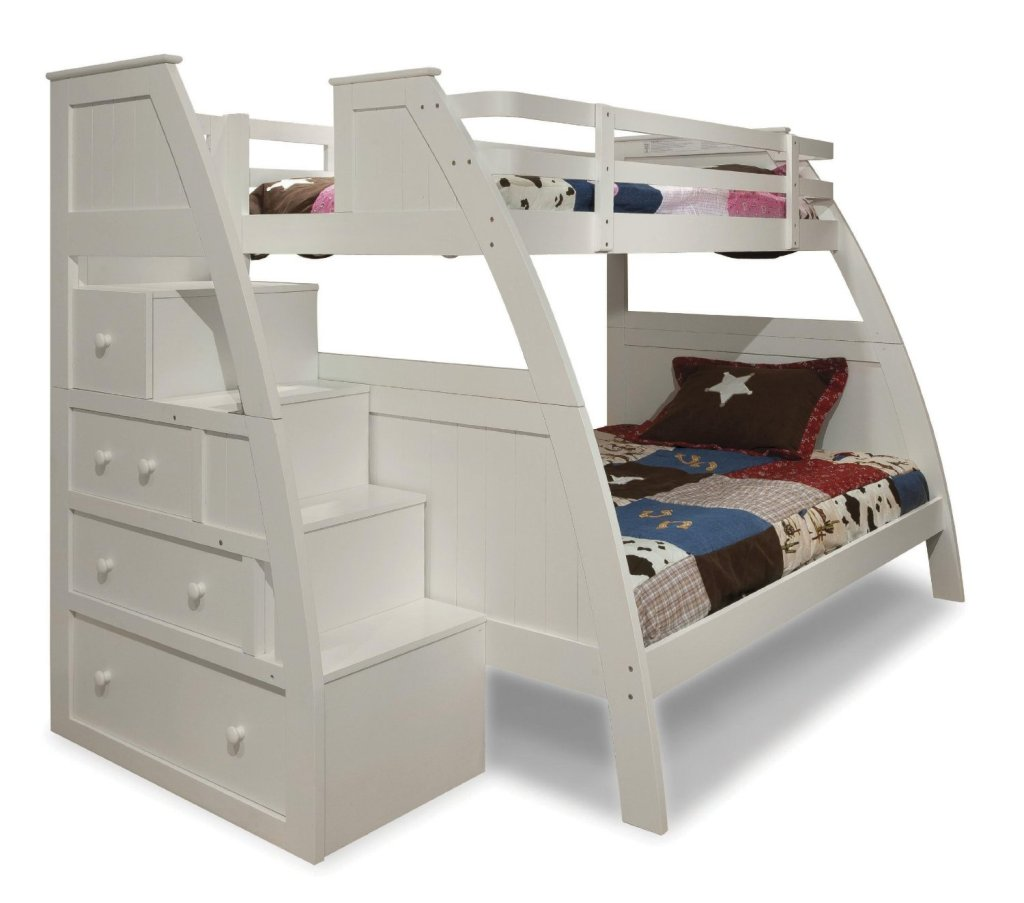 Funky bunk bed with stairs funk this house - Bunk bed with drawer steps ...