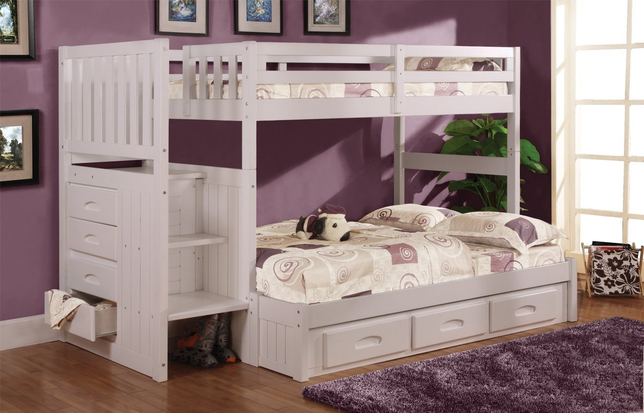 Funky Bunk Bed With Stairs Save Space Amp Increase The Fun