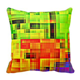 Funky Checkered Pillow with a Touch of Purple