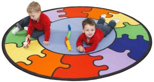 Jigsaw puzzle area rugs for kids