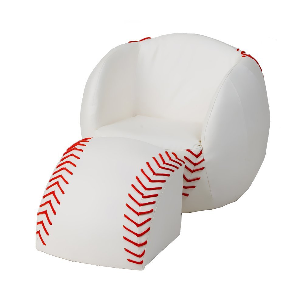 Kids Baseball Ottoman Chair