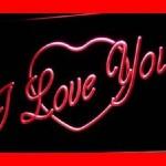 I Love You LED Wall Words