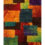 Multi Colored Rainbow Geometric Area Rug