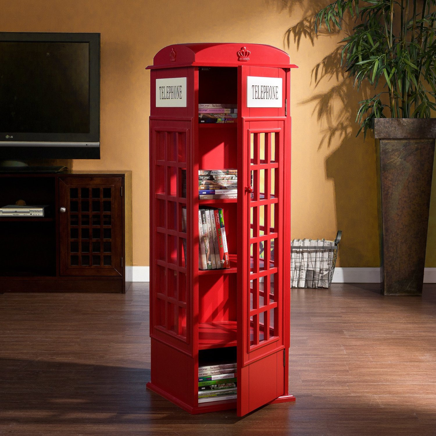 Phone booth storage cabinet funky home decor for Funky home decor