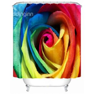 Rainbow Themed Shower Curtain