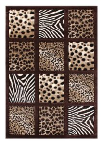 Safari Checkered Area Rug