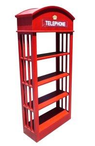 Telephone Booth Book Shelf
