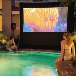 A Backyard Drive-In with an Open Air Cinema, Taking Funk to Another Level!