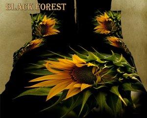 Black Forest Sunflower 3D Bedding Set
