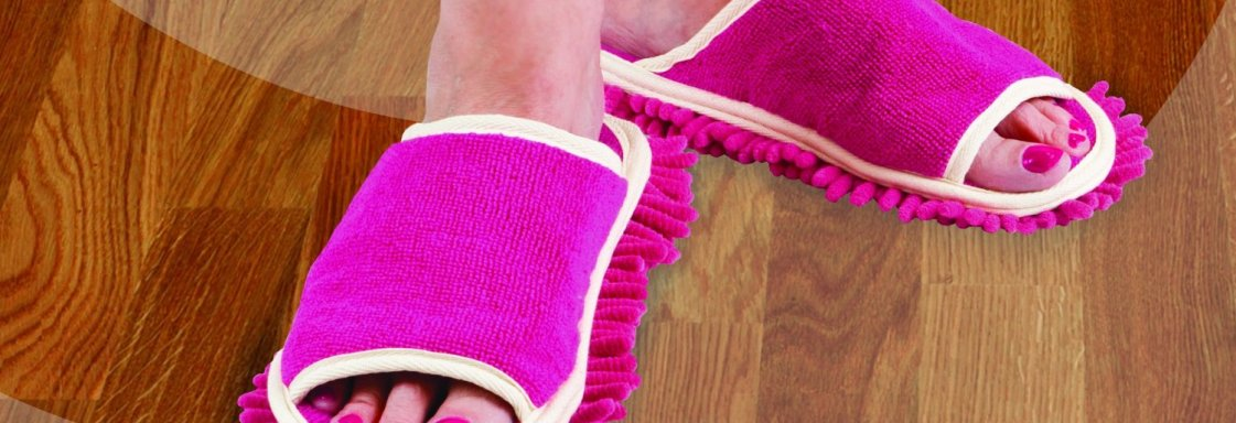 Funky Clean the Floor Slippers for the Whole Family