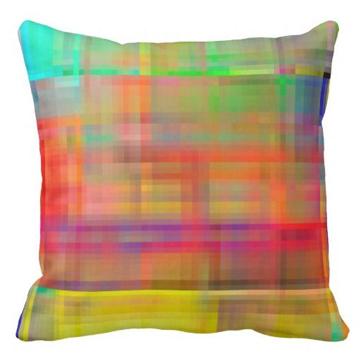 Funky Colorful Pillow Called Popsicle Madness