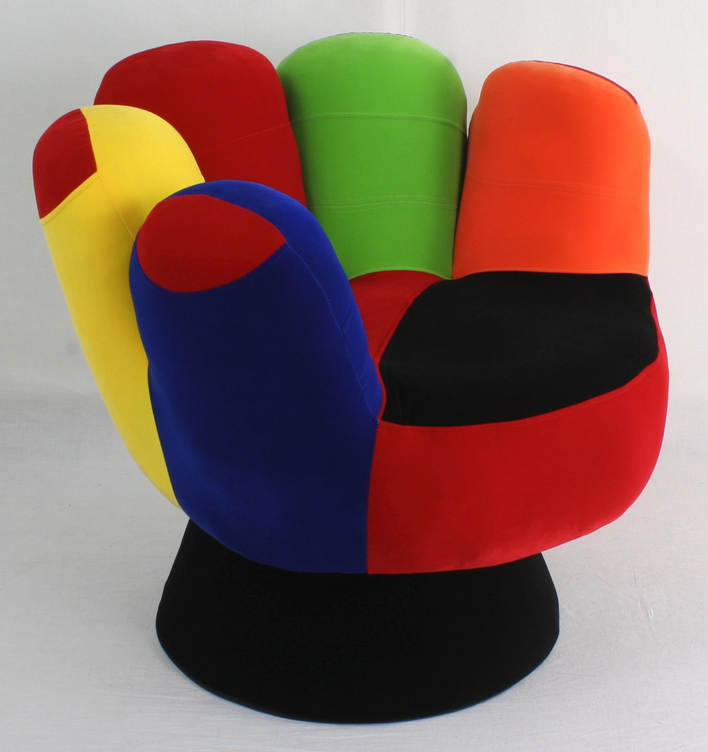 Funky mitt hand chair something different funk this house for Funky furniture