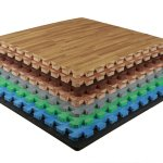 Funky Safety Solution with Interlocking Foam Wood Flooring