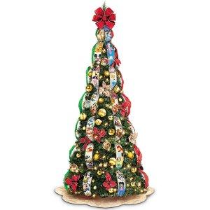 Pre-Lit Pull Up Christmas Tree