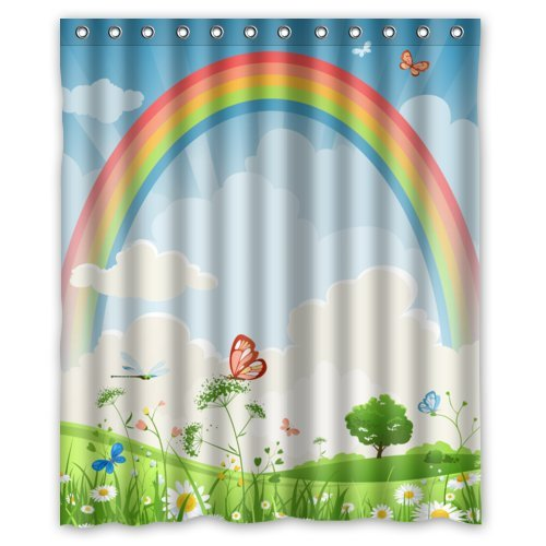 Funky Rainbow Shower Curtains - Funkthishouse.com