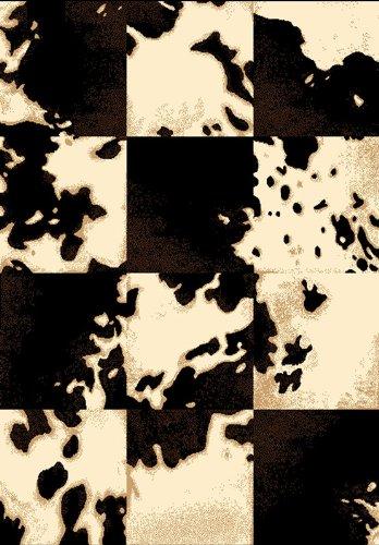 safari cow area rug