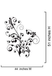Floral Curves Wall Decal