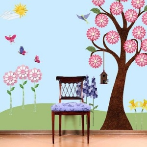 Flower Garden Wall Decal Kit