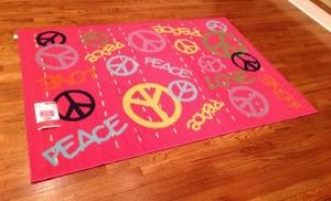 Peace Sign Area Rug