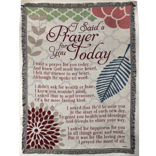 I Said A Prayer For You Today Quote Throw Blanket Funk