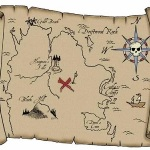 Funky Pirate Treasure Map Wall Decals