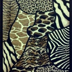 Dramatic Funk with Animal Print Area Rugs