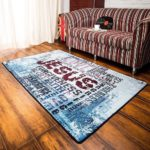 Religious Area Rug with Words