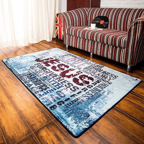 Funky Rugs With Words Motivational Or Funky Words On The