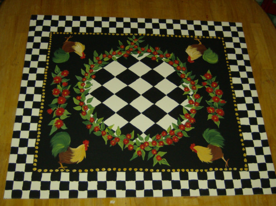 Rooster Area Rug