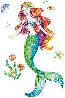 Funky D 233 Cor With Mermaid Wall Decals