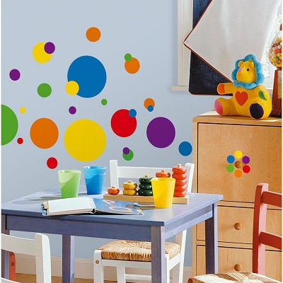 Funky Artsy & Bold Polka Dot Wall Decals