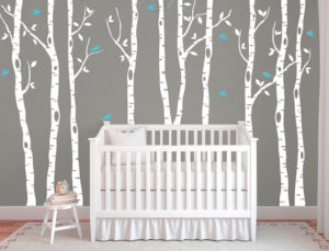 White Birch Tree Wall Decal