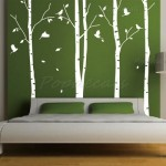 Easy Way to Feature a Little Funk with White Tree Wall Decals