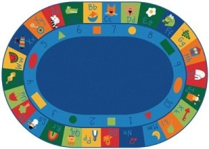 Educational Oval Learning Rug Canada