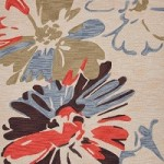 Funky Area Rug with Daisies