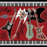 Funk for the Music Lover with Guitar Area Rugs