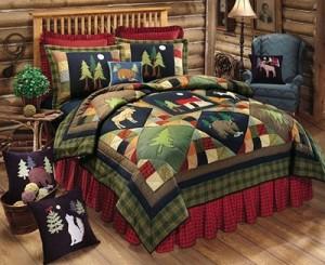 lodge cabin bedding
