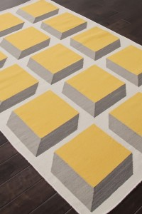 Yellow and Blue Area Rug