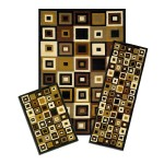 Funky 3 Piece Rug Sets