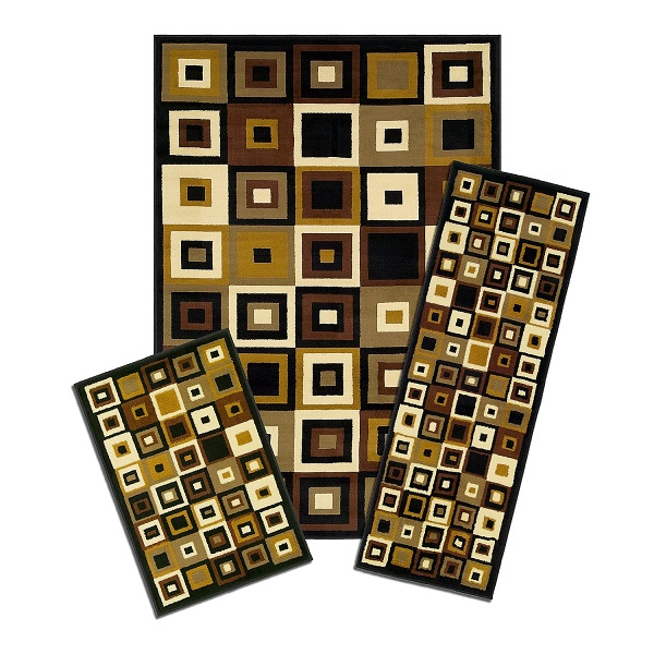 Funky 3 Piece Rug Sets Various Designs Colors Patterns