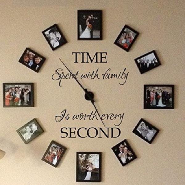 Wall Decor Sticker Clock :