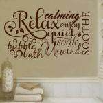 Bathroom Wall Quote Decal