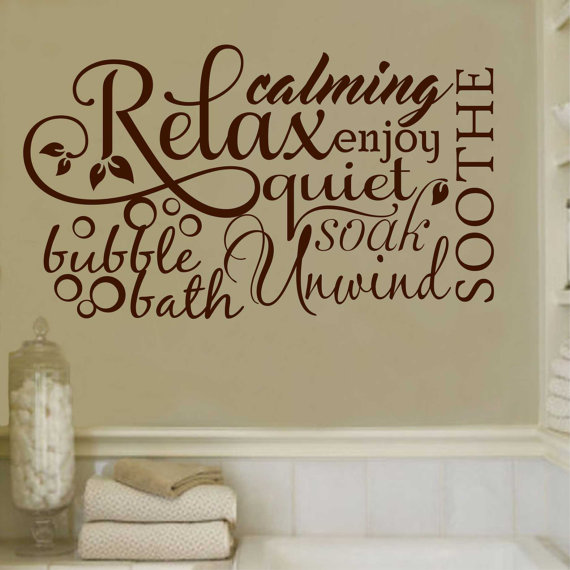 Bathroom wall quotes put up rules reminders or for Bathroom wall decor quotes