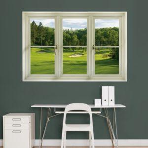Golf Window Wall Decal